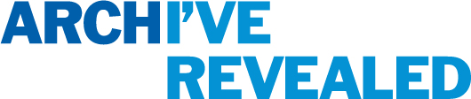Logo - Archive revealed in blue.
